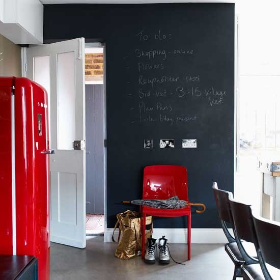 Kitchen chalkboard wall | Kitchen idea | Fridge | Image | Housetohome.co.uk