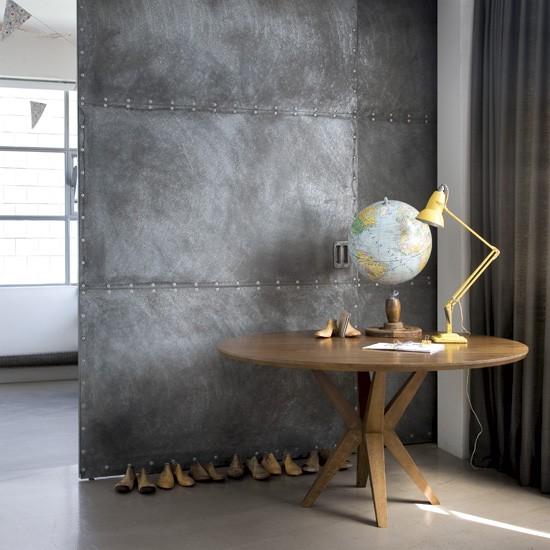 Metal Room Divider Hallway Pedestal Table
