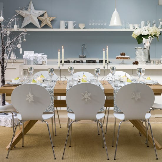 Simple Christmas Dining Decorations High Impact Low