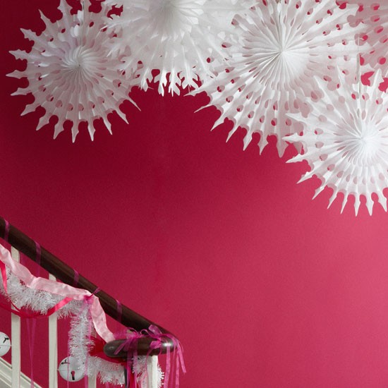 Play with bold colours and textures christmas decorating How to decorate your hallway for christmas
