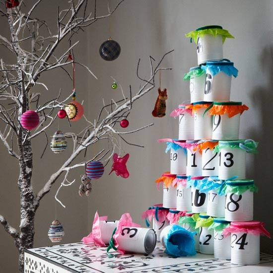 Small High Impact Decor Ideas: Modern Stacking Advent Calendar