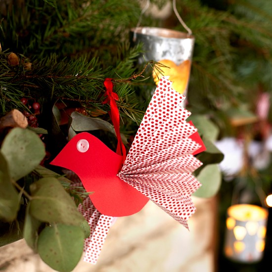 How To Make Paper Bird Decorations Christmas Decorations