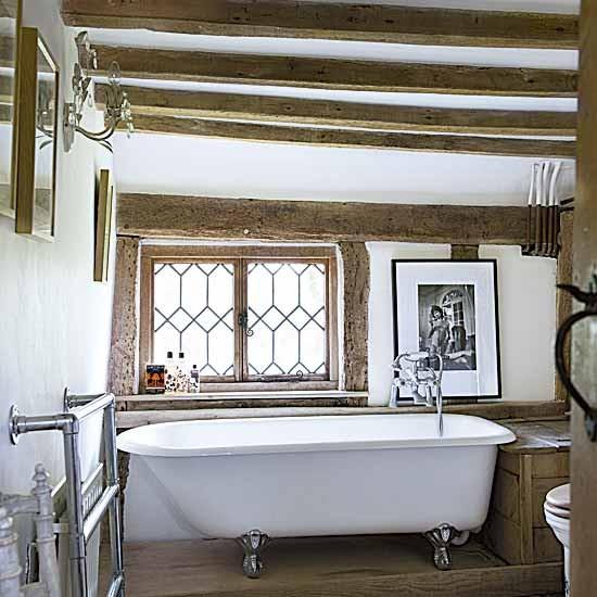 Small country bathroom | Bathroom decorating | Freestanding baths | image | Housetohome