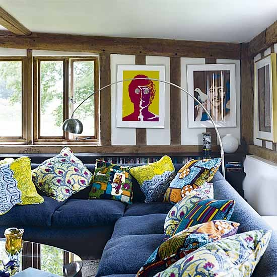 Colourful living room cushions | Living room designs | Cushions | image | Housetohome
