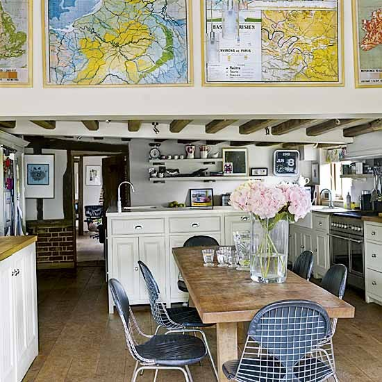 Modern country kitchen-diner | Dining tables | Dining chairs | image | Housetohome