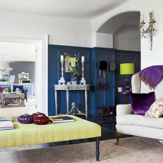 Colourful grand living room | Living room decorating ideas | Living room furniture | Image | Housetohome.co.uk