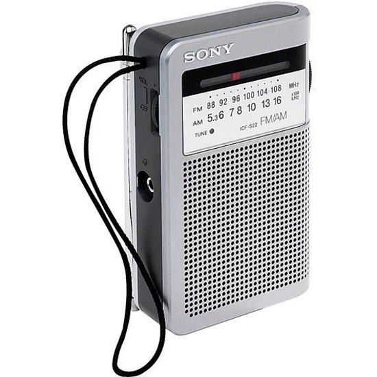 icf s22 portable fm am radio from sony radio. Black Bedroom Furniture Sets. Home Design Ideas