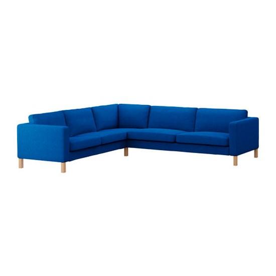 Ikea Uk Living Room Furniture: Karlstad Corner Sofa In Korndal Medium Blue From IKEA