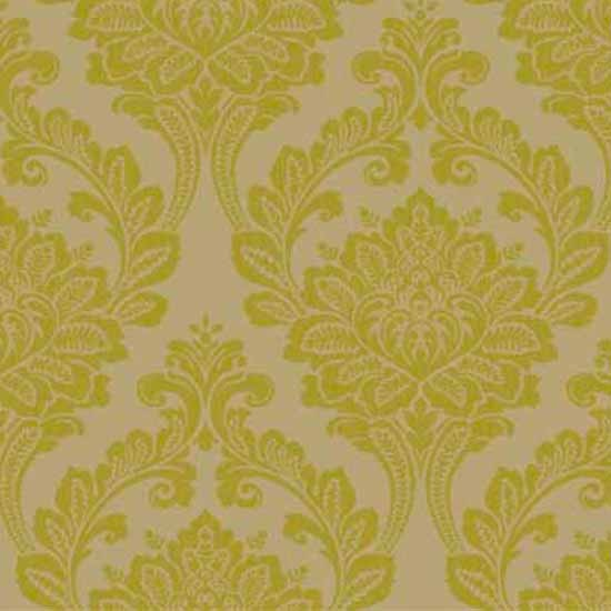 arthouse vintage astoria damask wallpaper in green from