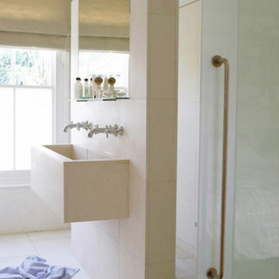 Neutral stone bathroom | Bathroom idea | Basin | Image | Housetohome.co.uk