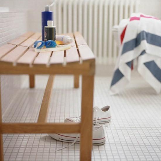 Bathroom bench | Bathroom idea | Bench | Image | Housetohome.co.uk