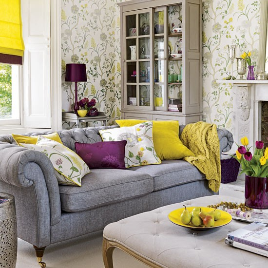 Buttercup and plum living room | Living room | Living rooms - best of 2010 | Living room design ideas | PHOTO GALLERY | Housetohome