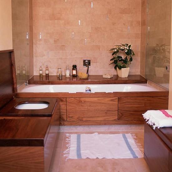 Wooden bathroom | Bathroom idea | Toilet | Image | Housetohome.co.uk