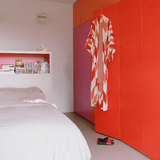 Bright orange bedroom | Bedroom idea | Cupboard | Image | Housetohome.co.uk