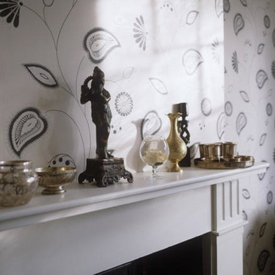 Modern monochrome wallpaper | Living room idea | Wallpaper | Image | Housetohome.co.uk