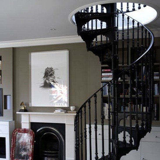 Traditional spiral staircase | Living room idea | Staircase | Image | Housetohome.co.uk