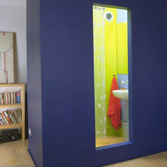 Striking blue shower | Bathroom idea | Shower | Image | Housetohome.co.uk
