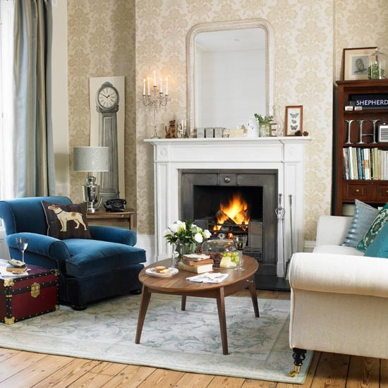Classic Living Room In Cool Colours