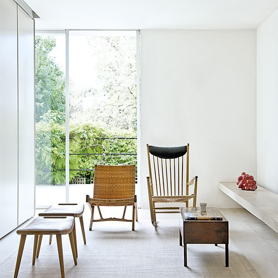 Minimalist white living room | Living rooms | Chairs | image | Housetohome