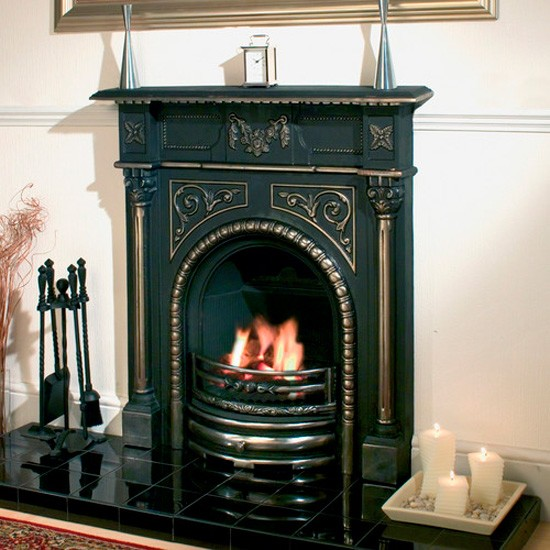 Clarke Cast Iron Fireplace And Fire From Machine Mart