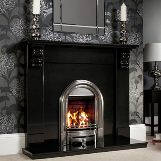 Decorating Ideas > Roberto Fireplace From Fireplaces Are Us ~ 202744_Black Fireplace Decorating Ideas