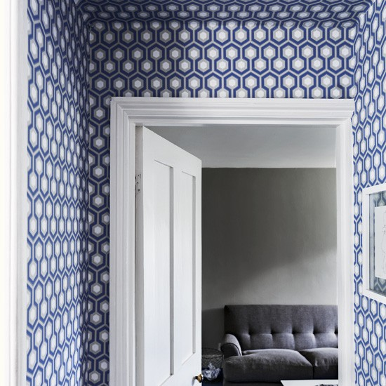 Graphic hallway with geometric wallpaper | Hallway designs | Wallpaper | image | Housetohome