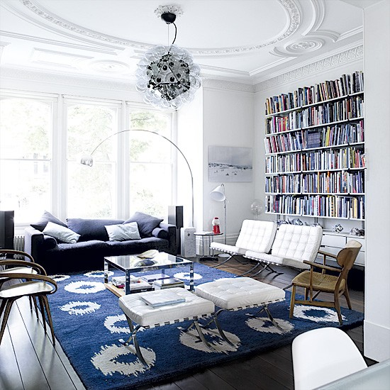 white living room with blue highlights living room designs storage