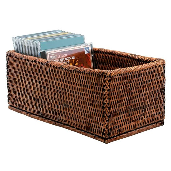 Rattan CD Storage Box From Oka CD Storage Living Room Storage PHOTO GAL