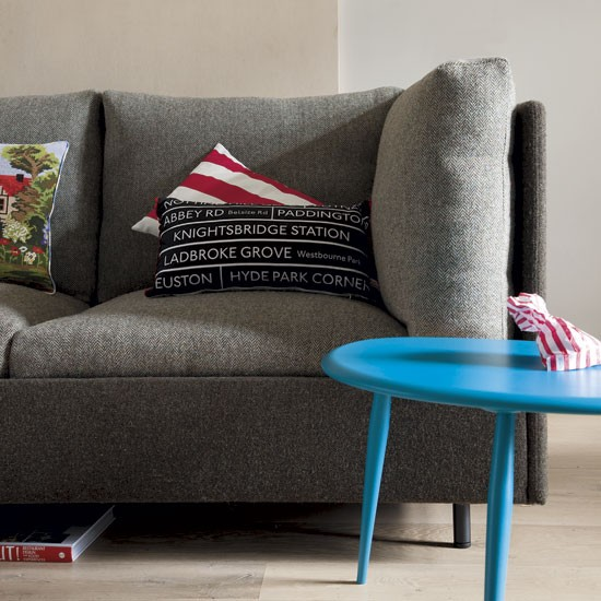 Living room with turquoise table | Living room designs | Coffee tables | image | Housetohome