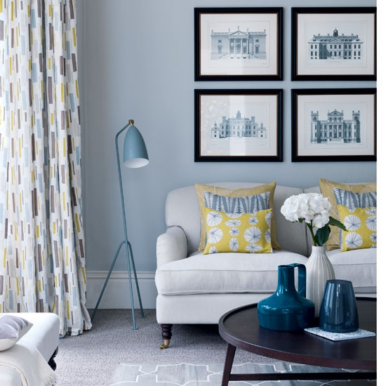 Blue Yellow and Gray Living Room 550 x 550