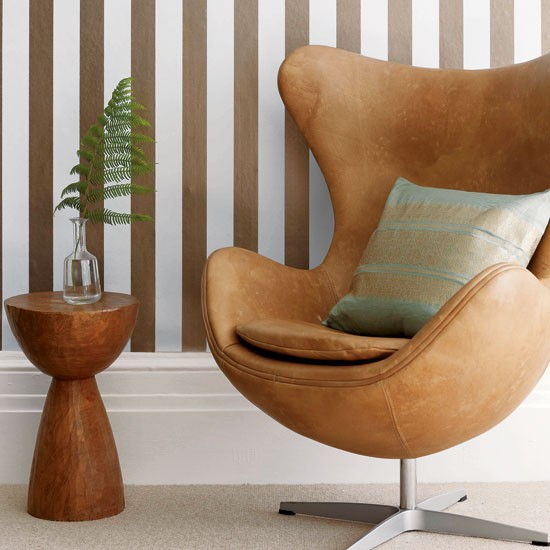 Living room armchair with stripes | Living room designs | Lounge chairs | image | Housetohome