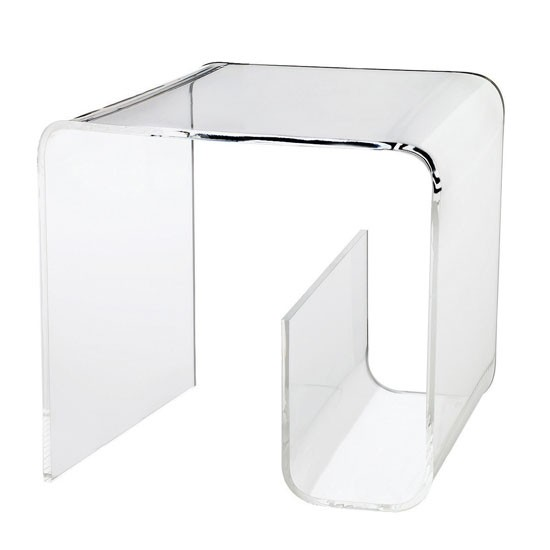 Acrylic Square Table With Magazine Rack From Muji Best
