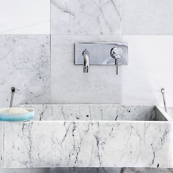Stone Basin Bathroom : Marble tiled bathroom basin Bathroom decorating ideas Basins ...