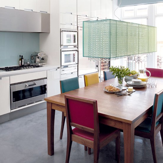 Colourful kitchen-diner | Kitchen ideas | Kitchen table | Image