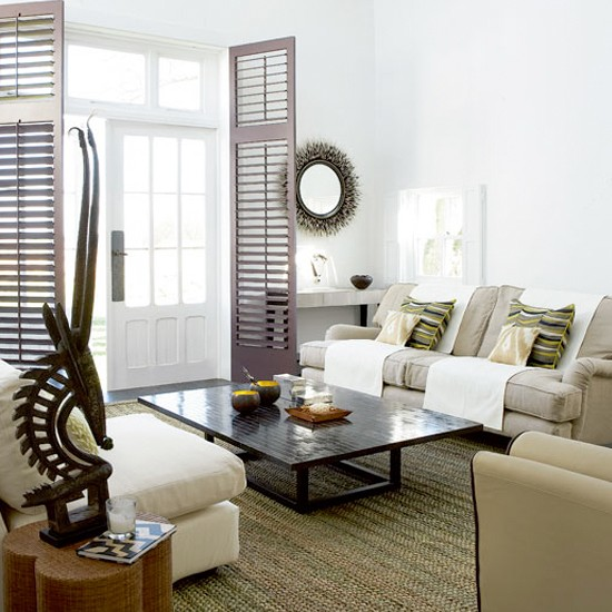 Colonial style Living Room Ideas Neutral