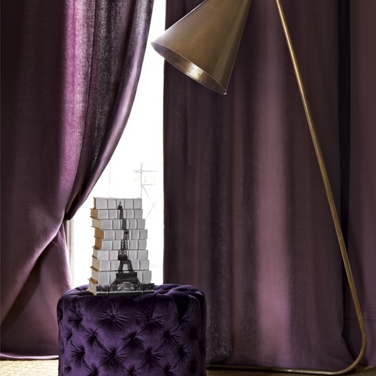 Textured living room | Footstools | Living room curtains | Image | Housetohome