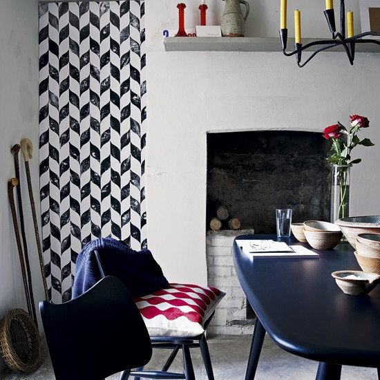 Modern dining room with geometric prints | Dining room ideas | Tables | Image | Housetohome