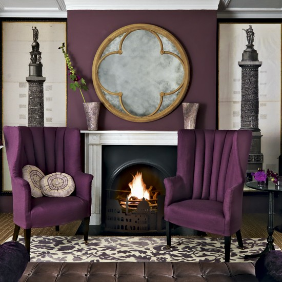 Purple living room living room designs paint colours for Living room ideas purple