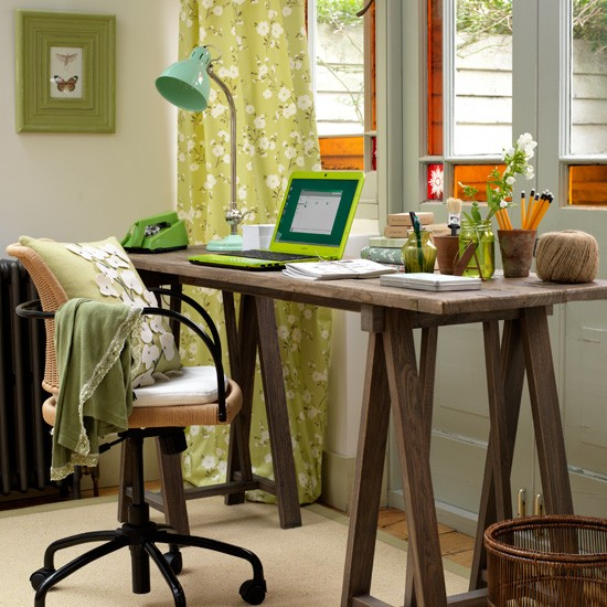 Green home office | Home office decorating ideas | Desks | Image | Housetohome