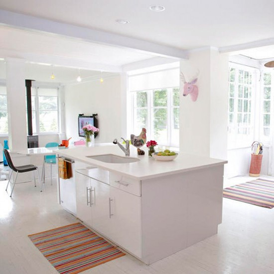Kitchen with central island unit | Open-plan kitchen | Kitchen ...
