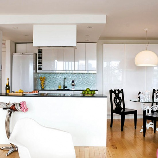 Sleek white kitchen modern kitchen kitchen ideas for Sleek modern kitchen ideas