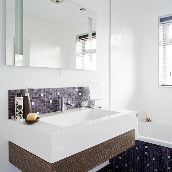 Modern Bathroom With Mosaic Tiles Bathroom Designs Mosaic Tiles