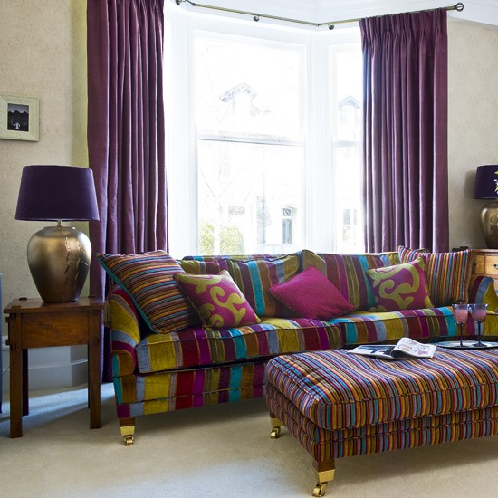 Living room with colourful sofa | Living room designs | Sofas | Image | Housetohome