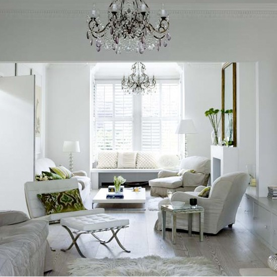 White tranquil living room modern white interiors for Contemporary white living room design ideas
