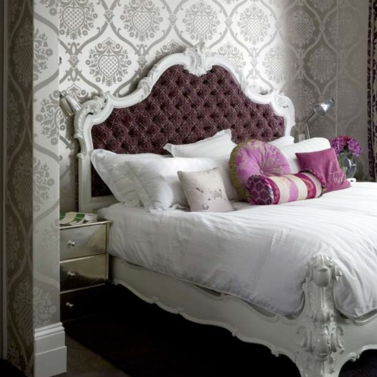 Purple and pewter bedroom | Purple bedroom | Bedroom ideas