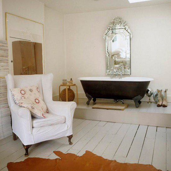 Open-plan bathroom   Freestanding bath   Bathroom ideas