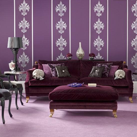 Bold Purple Living Room Modern Living Room Designs