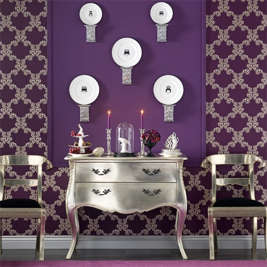Opulent dining room wall display | Dining room designs | Sideboards | Image | Housetohome