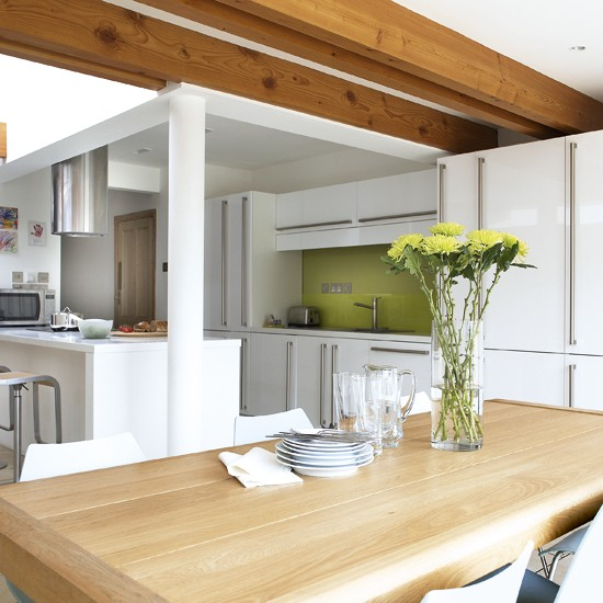 White kitchen-diner | Kitchen-diner designs | Kitchens | Image | Housetohome