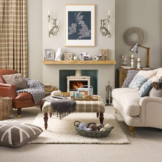 Relaxed Country Living Room Living Room Designs Fabrics Image